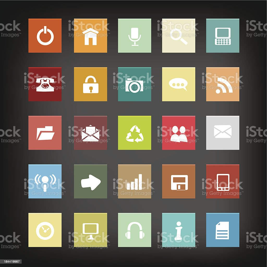 Web icon set. Vector vector art illustration