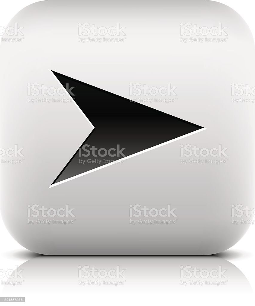 Web icon with arrow sign vector art illustration
