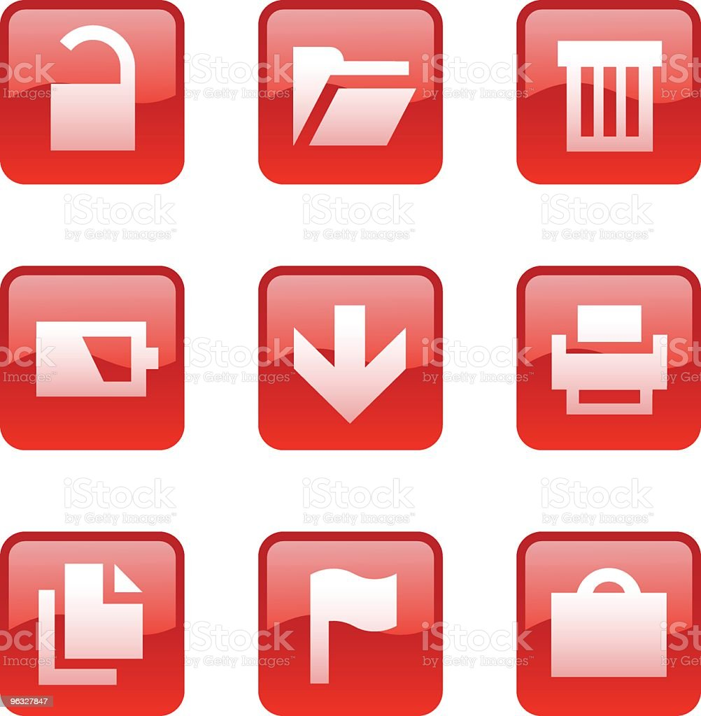 Web icons 3 royalty-free stock vector art