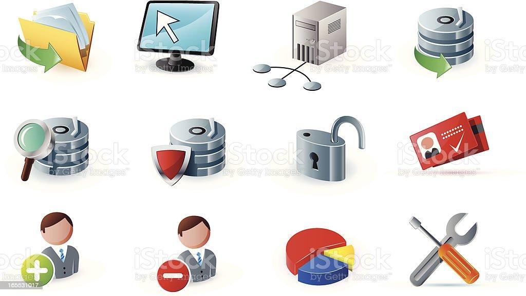 web icons 7 vector art illustration