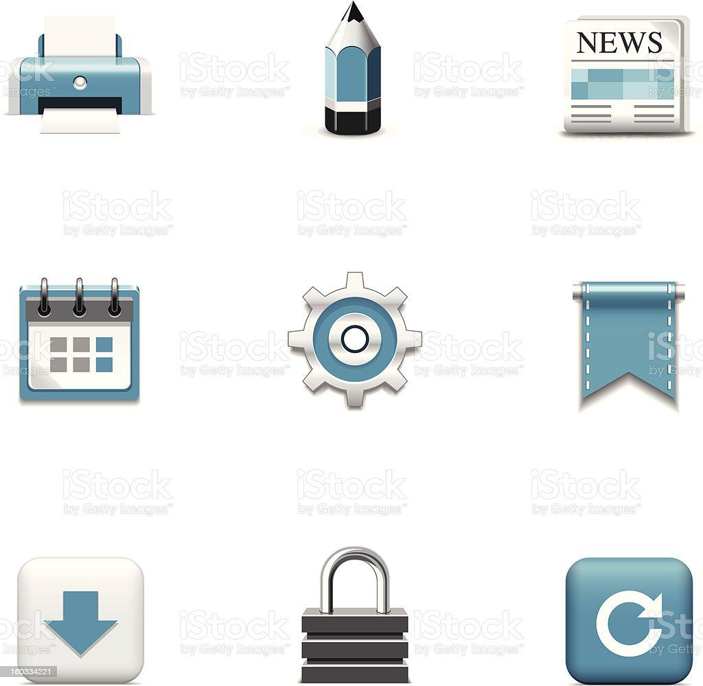Web icons. Azzurro series royalty-free stock vector art