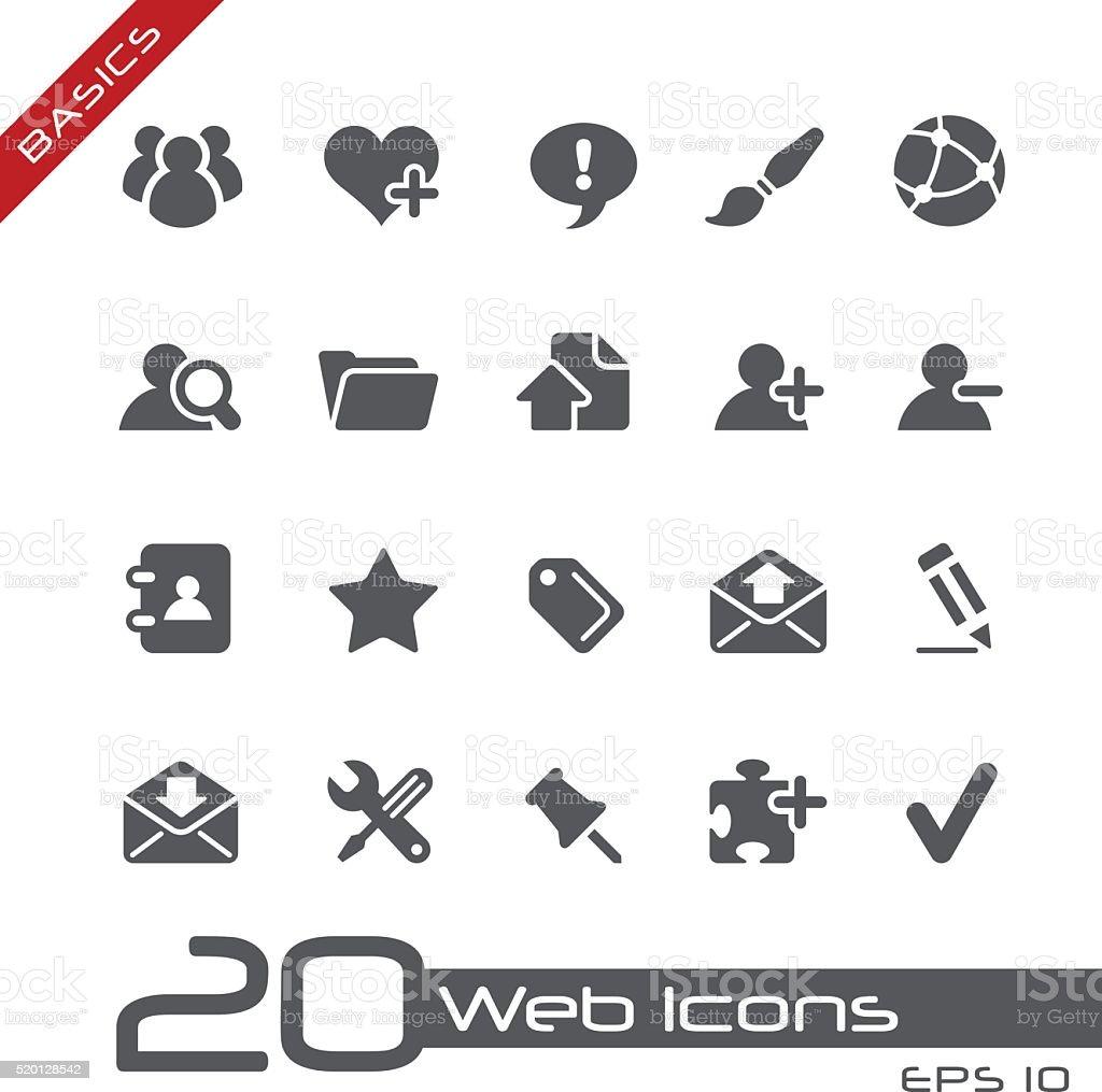 Web Icons - Basics vector art illustration