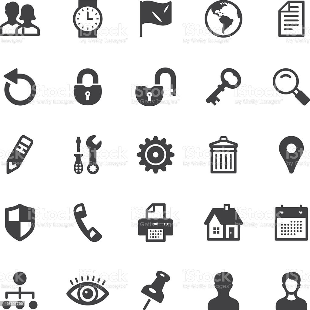 Web icons - Black series vector art illustration