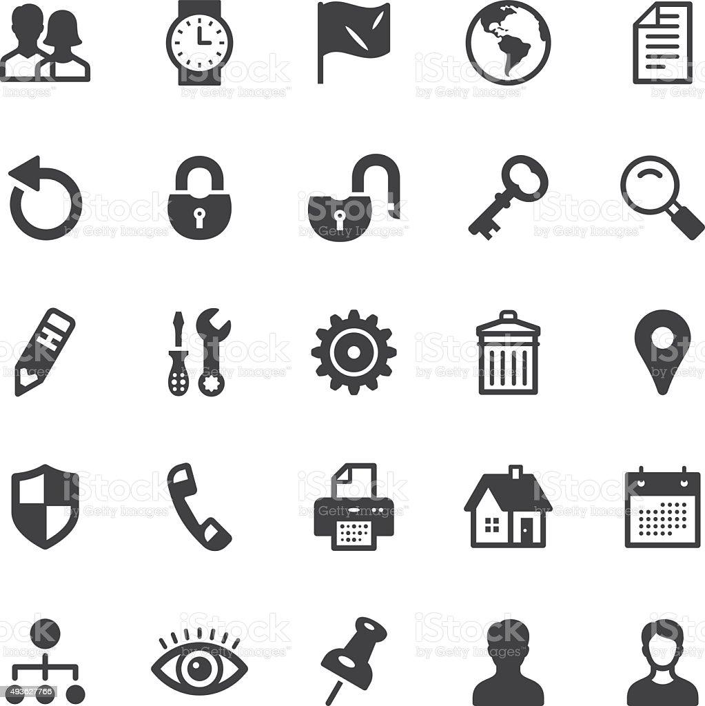 Web icons - Black series vector art illustration