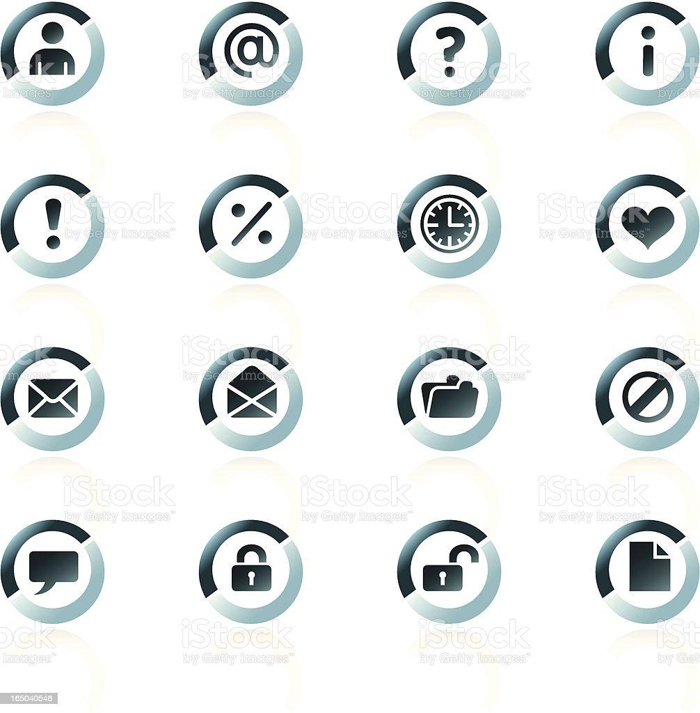 Web Icons - Bluesplit royalty-free stock vector art