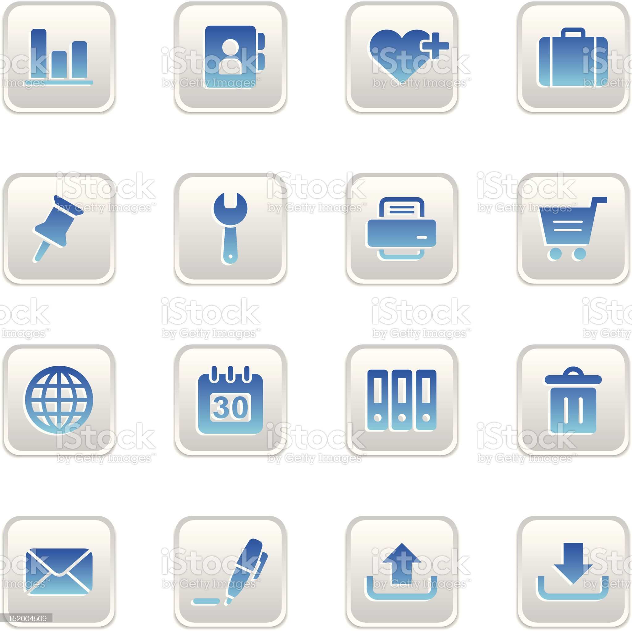 Web Icons Button Set royalty-free stock vector art
