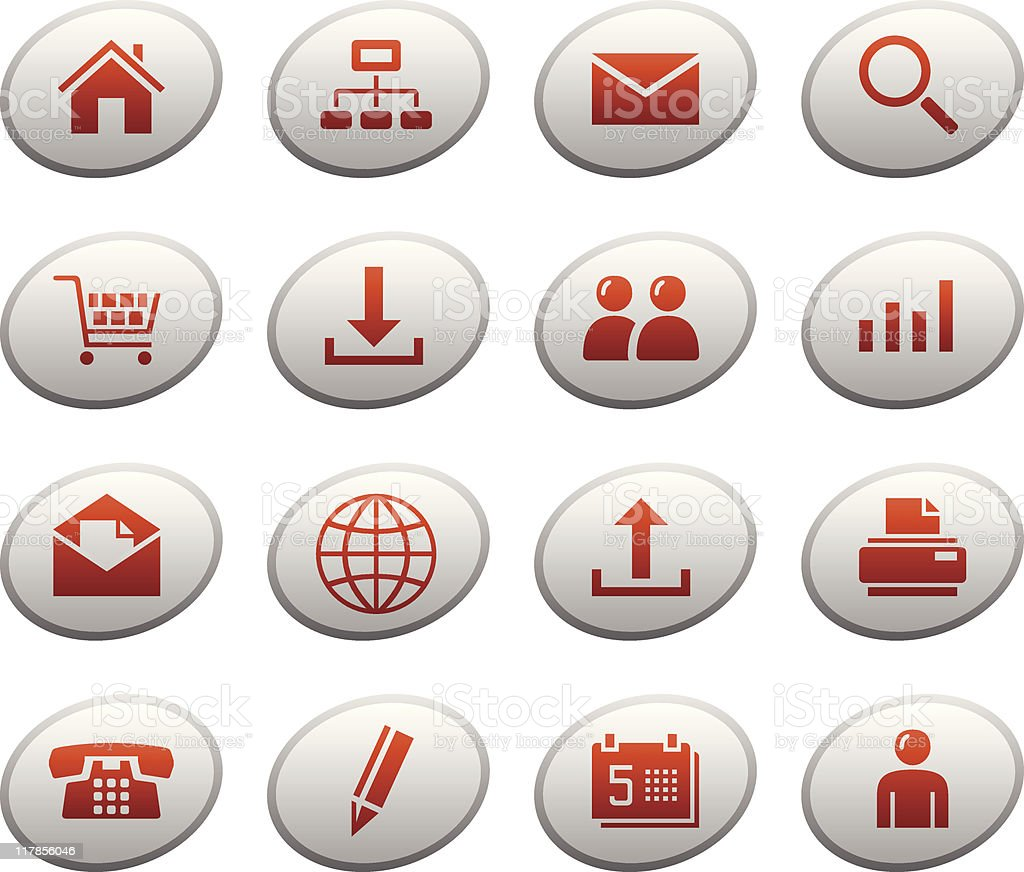 Web icons / buttons. Ellipse series royalty-free stock vector art