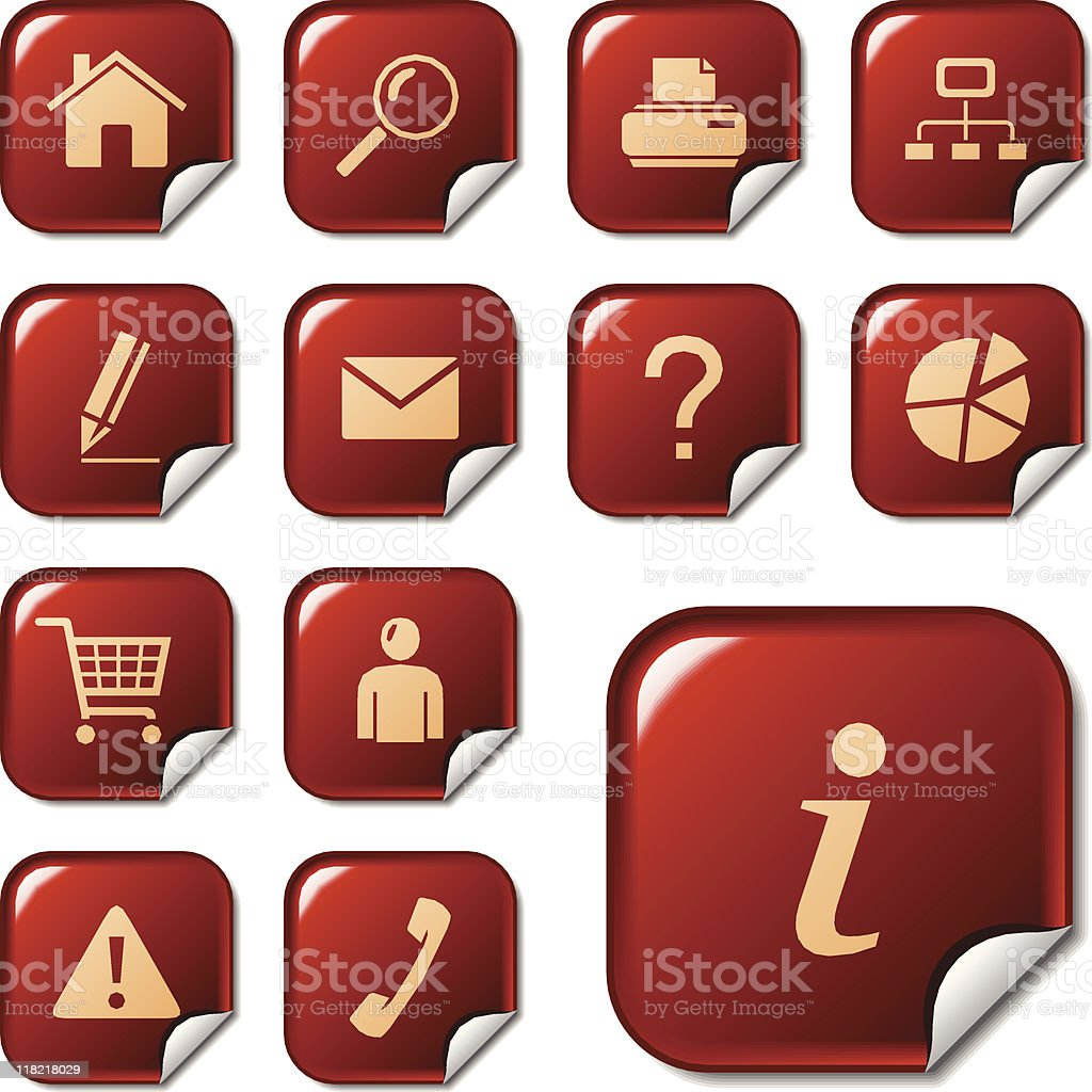Web icons / buttons. Sticker series royalty-free stock vector art