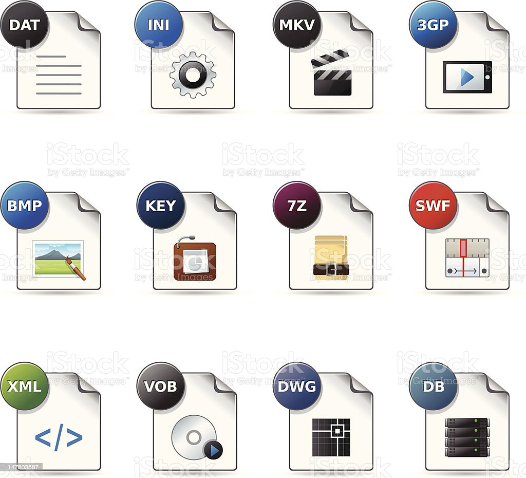 Web Icons - File Formats 11 stock photo