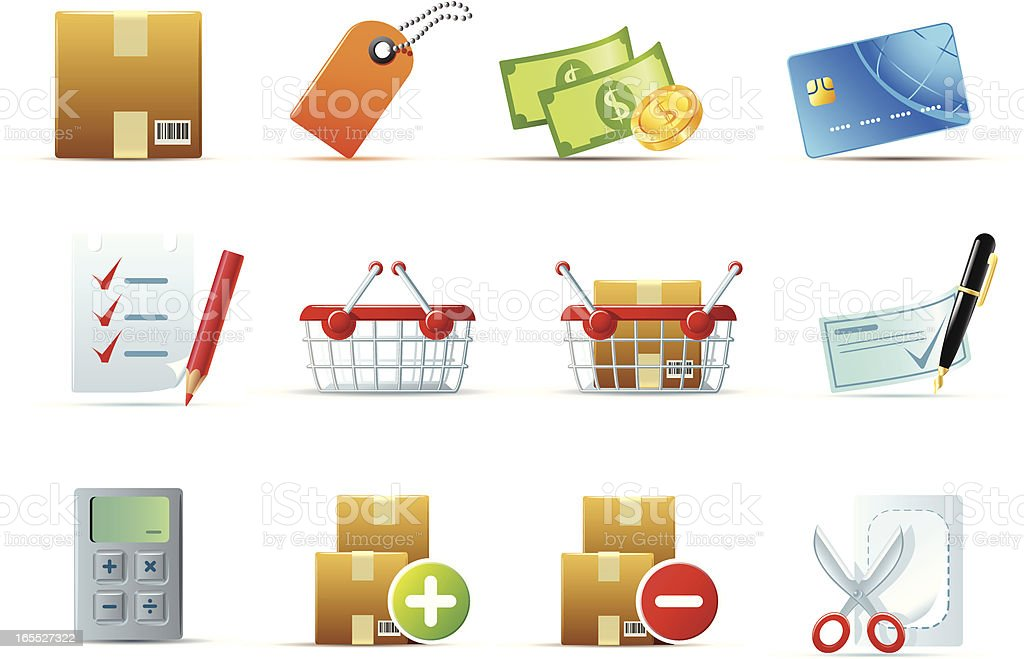 web icons, flat series (shopping) royalty-free stock vector art
