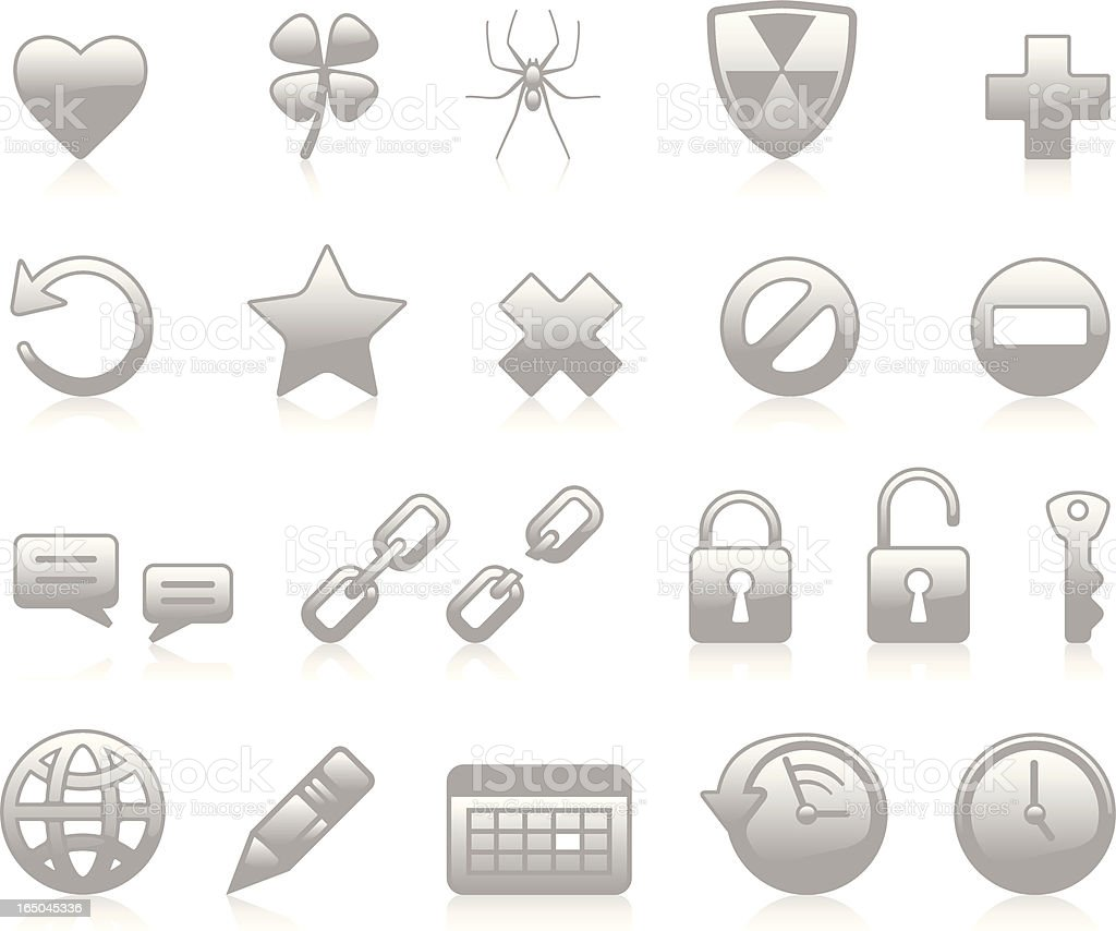 Web Icons II - Grey royalty-free stock vector art