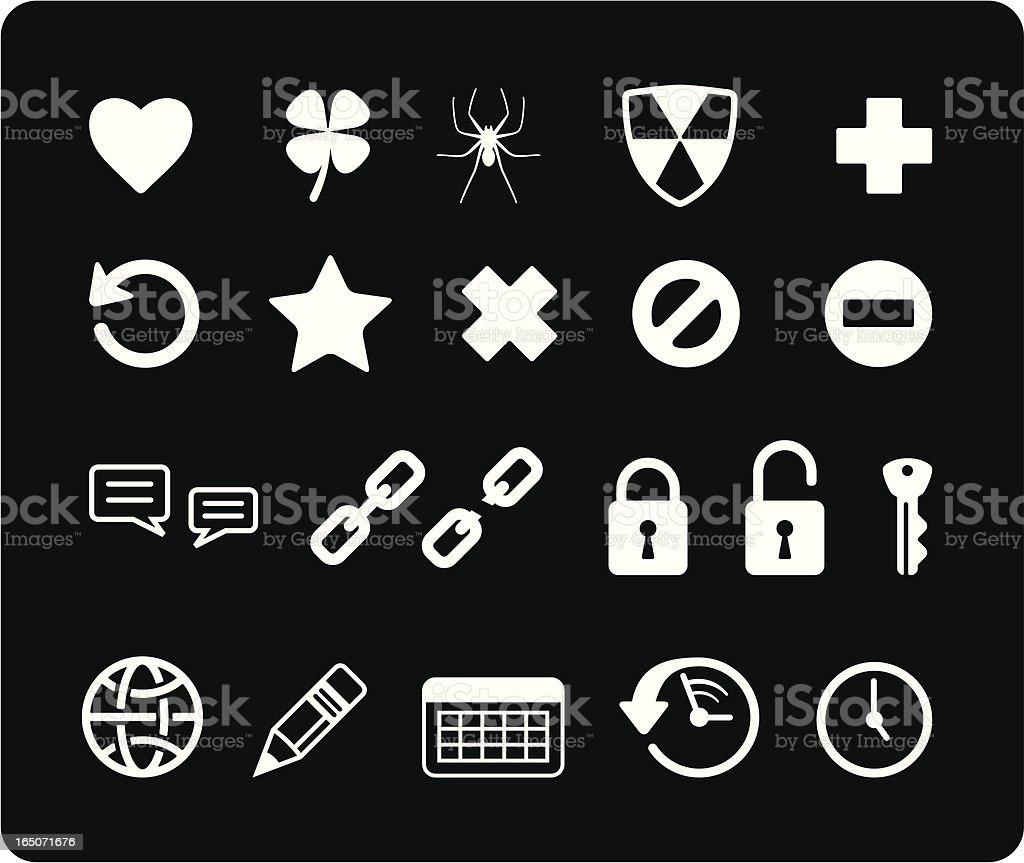 Web Icons II - White royalty-free stock vector art