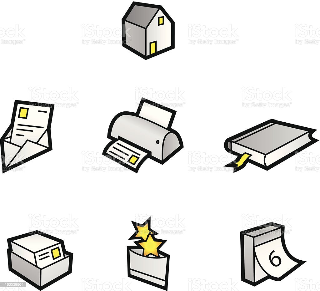 Web Icons Light royalty-free stock vector art