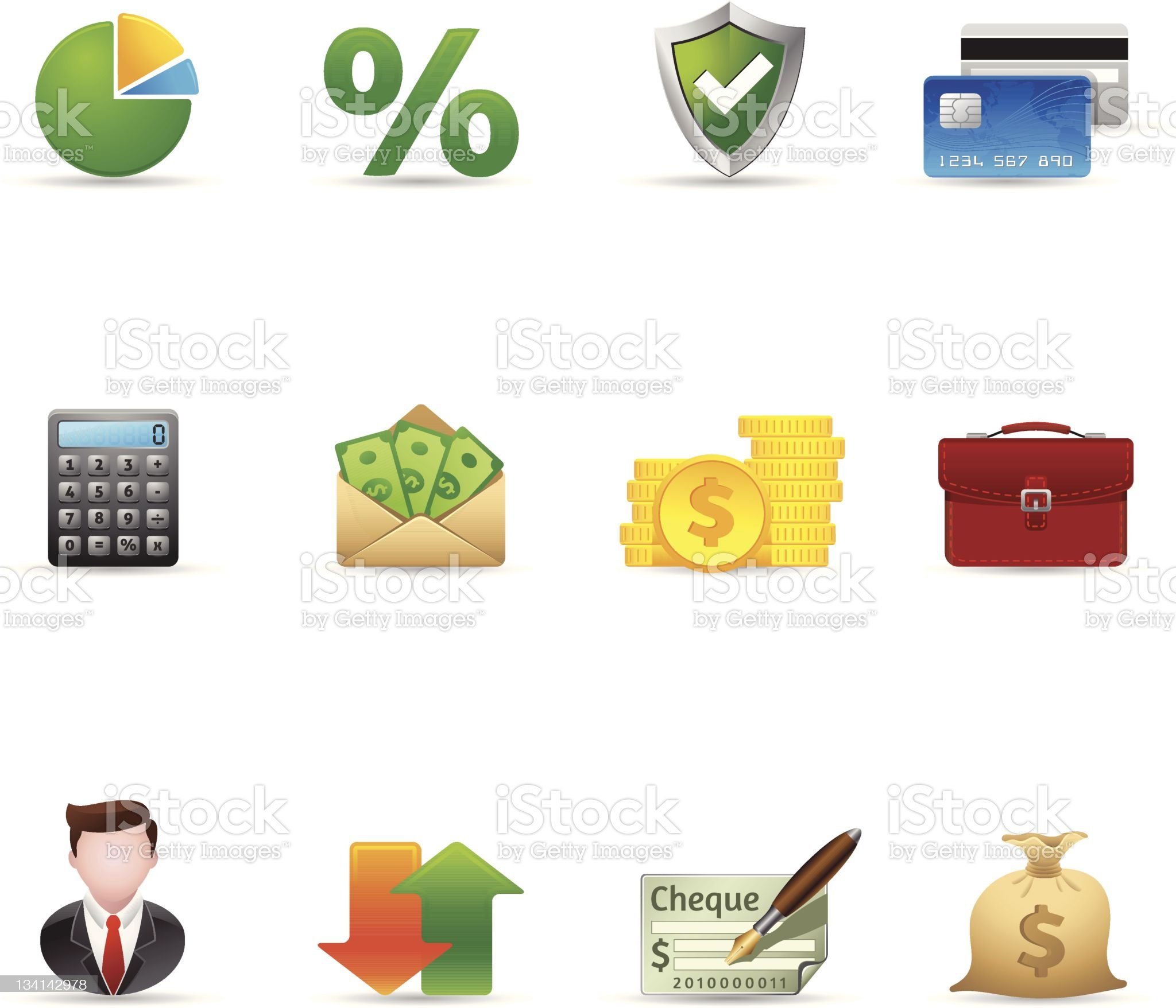 Web Icons - More Finance royalty-free stock vector art
