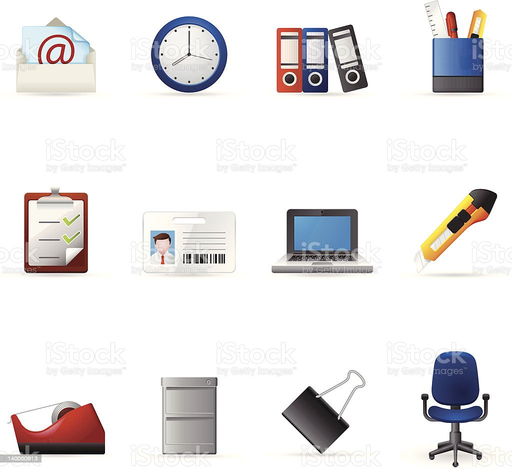 Web Icons - More Office royalty-free stock vector art
