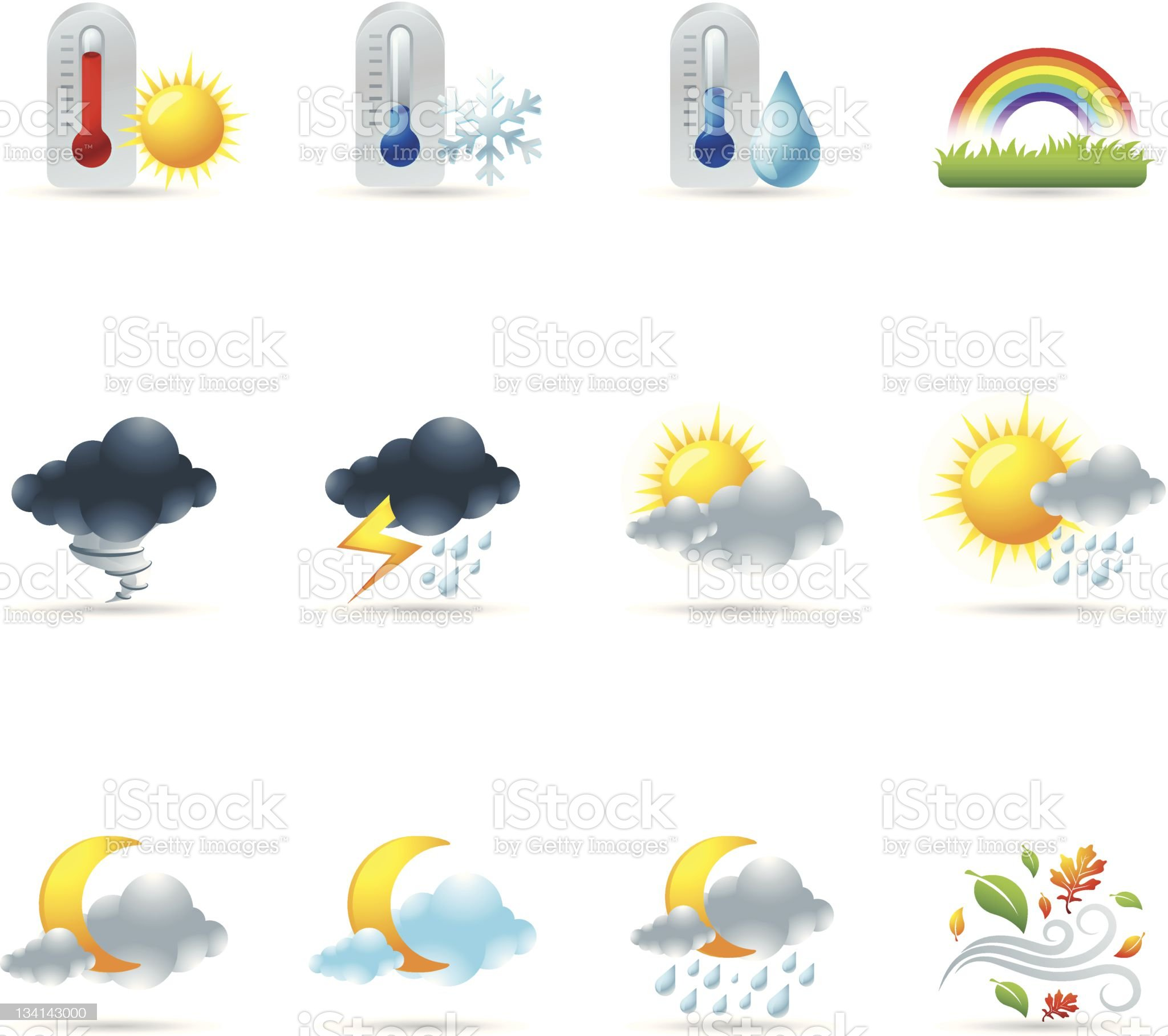 Web Icons - More Weather royalty-free stock vector art
