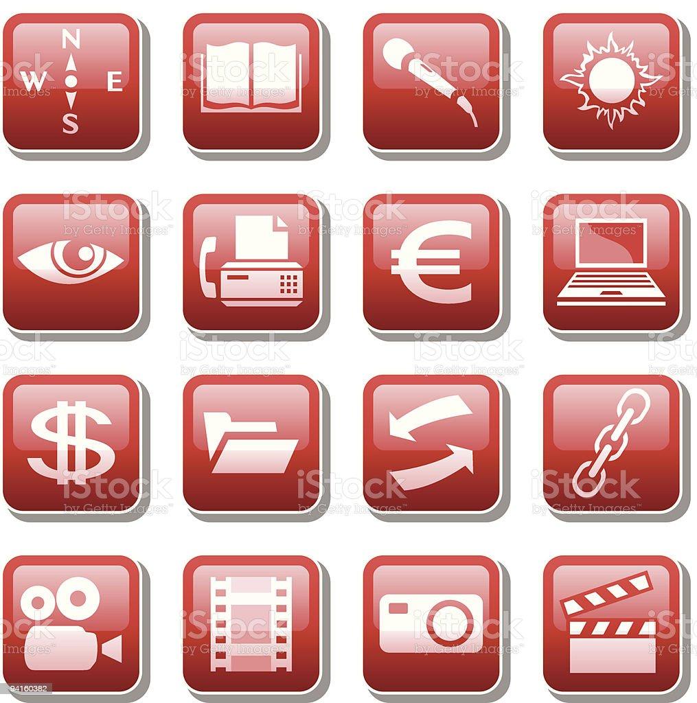 Icônes Web. PARTIE 4 stock vecteur libres de droits libre de droits