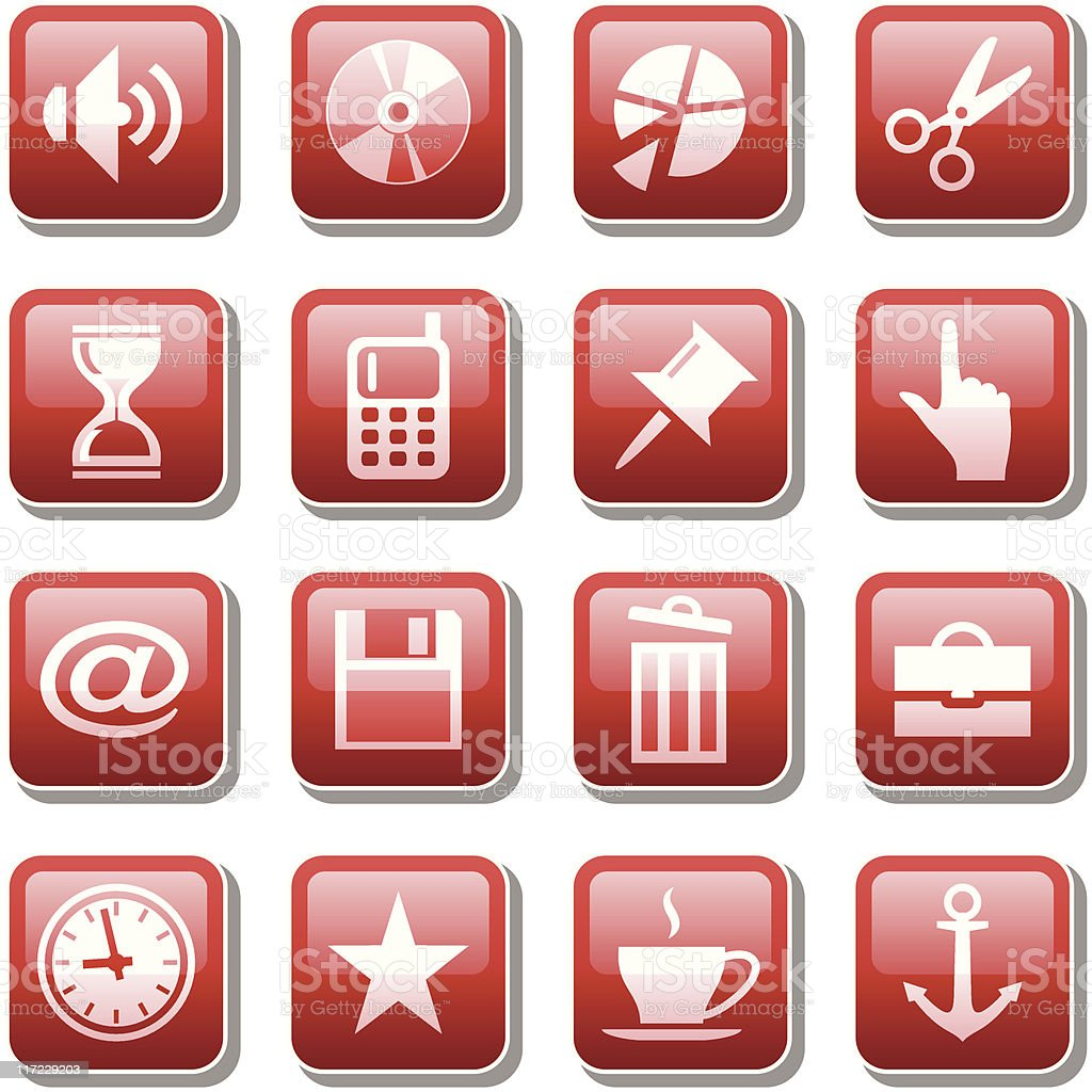 Web icons. Part three royalty-free stock vector art