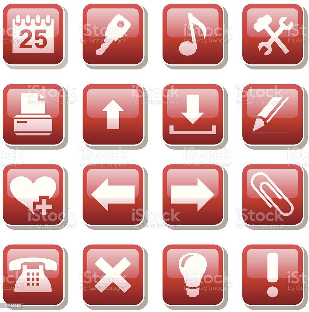 Icônes Web. Deuxième partie stock vecteur libres de droits libre de droits