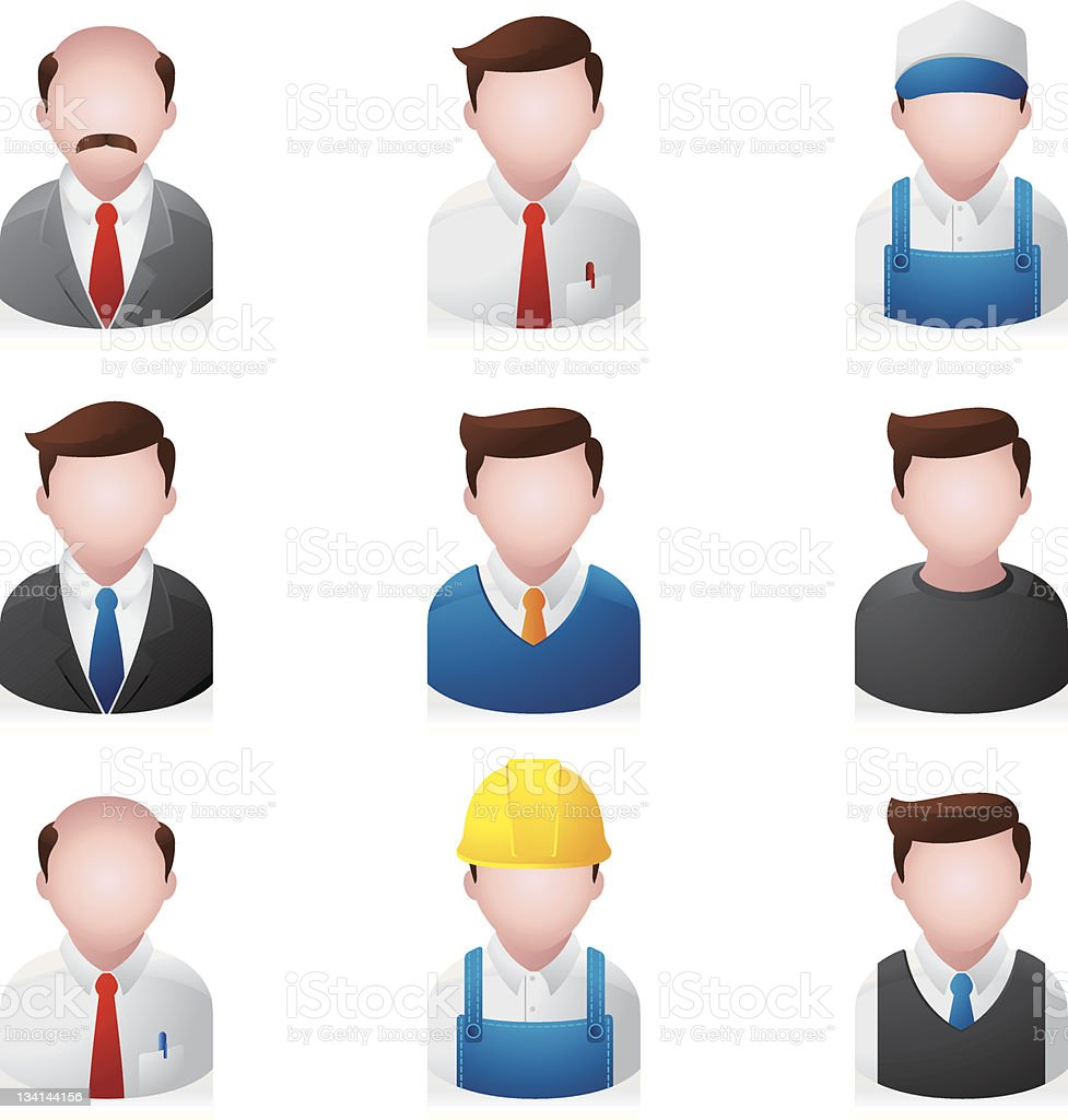 Web Icons - Professional People royalty-free stock vector art