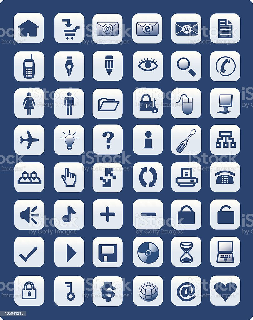 Web Icons Set 3 vector art illustration