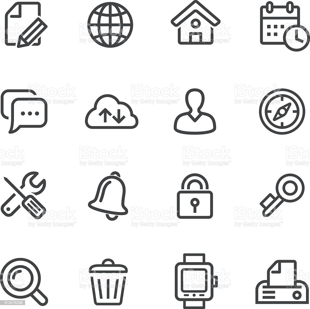 Web Icons Set - Line Series vector art illustration