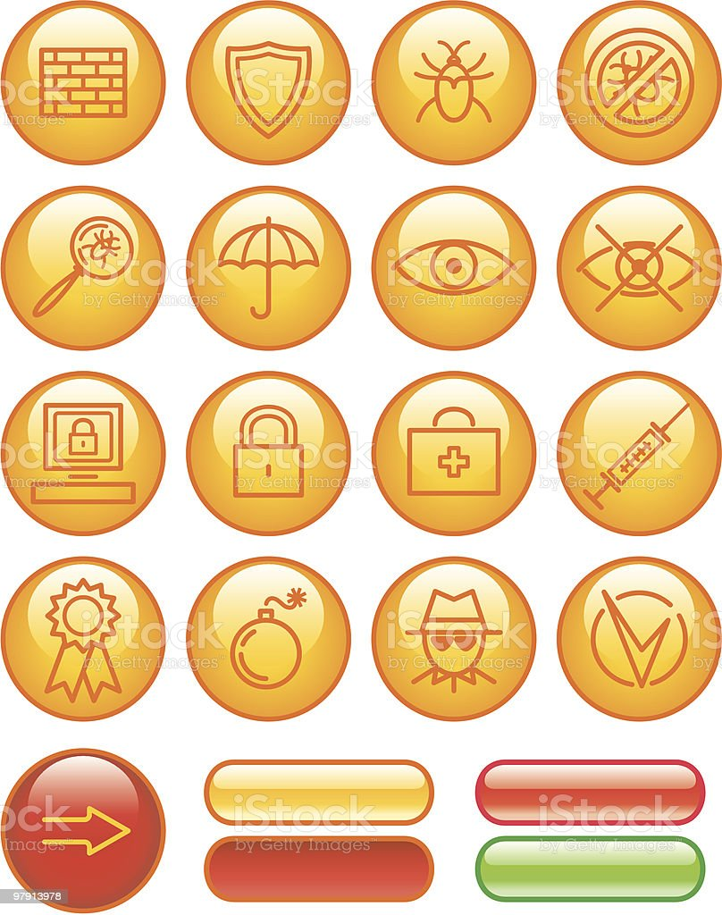 Web Icons Set – Safety royalty-free stock vector art
