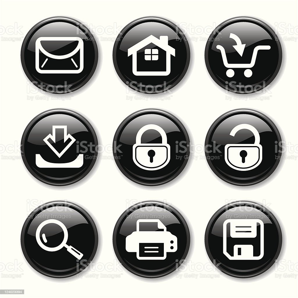 Web Icons Set royalty-free stock vector art