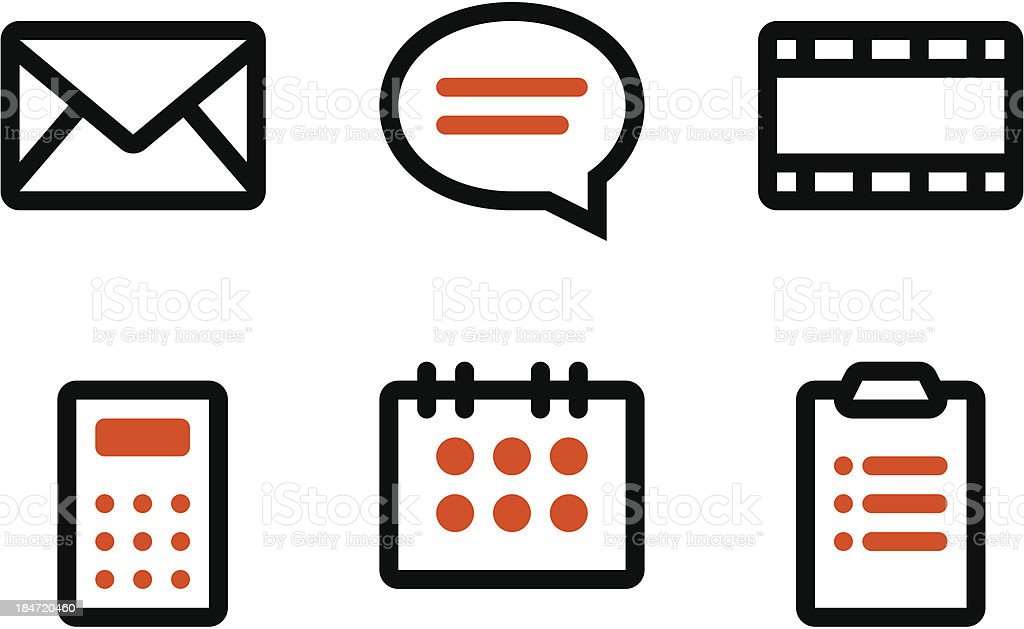 Web icons set royalty-free stock vector art