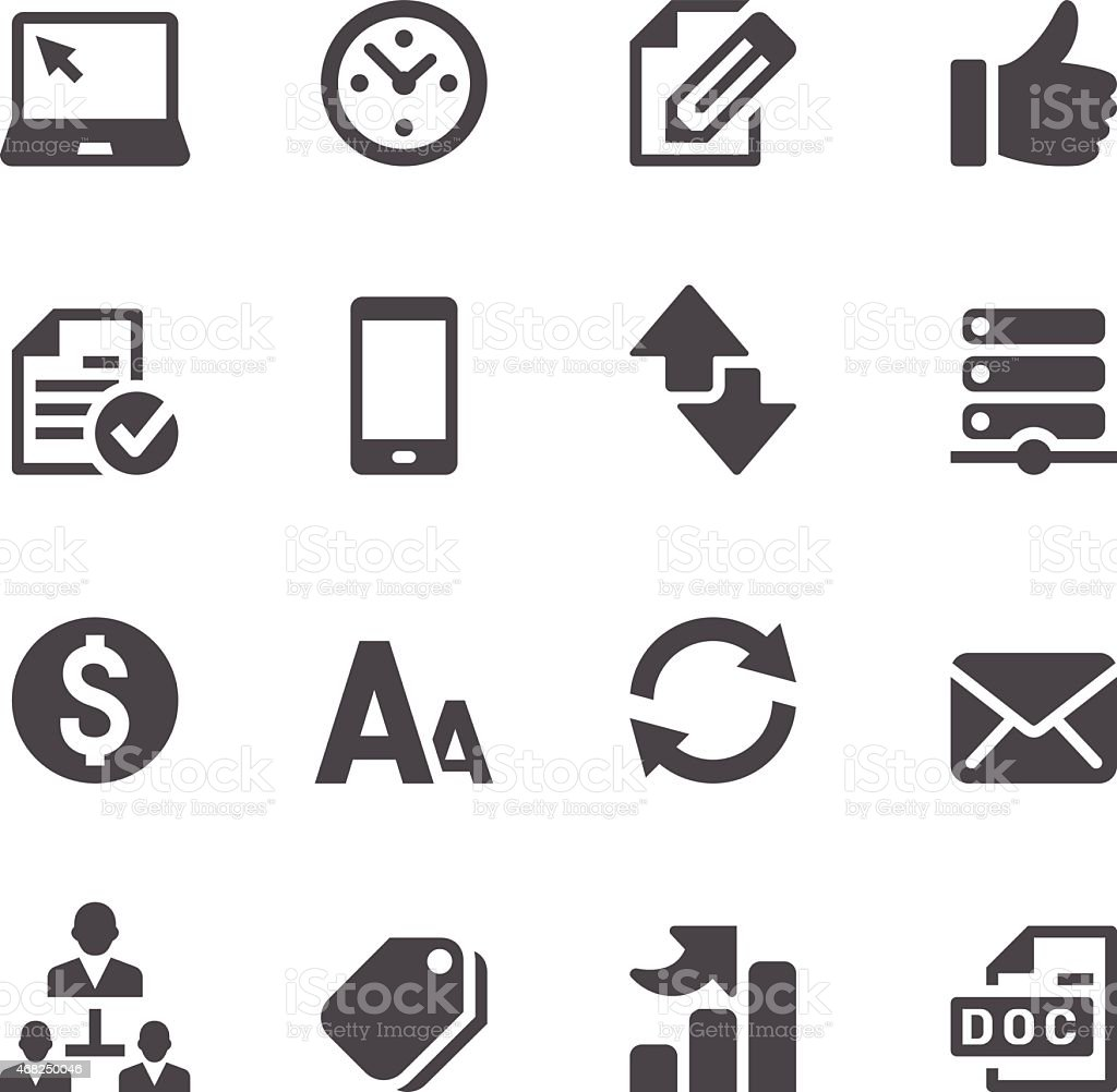 Web Icons Set vector art illustration