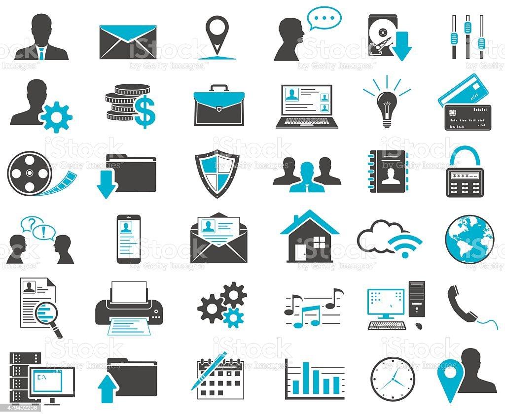 Web Icons Set vector art illustration