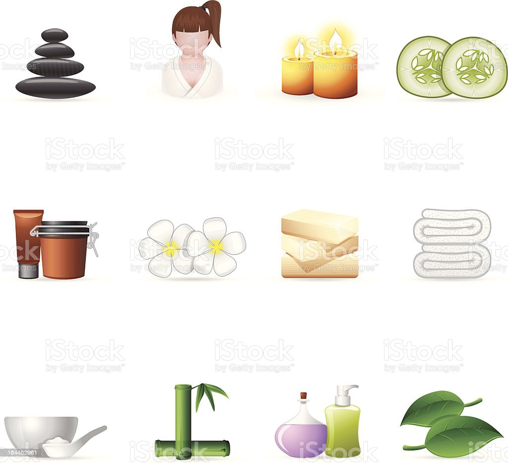 Web Icons - Spa royalty-free stock vector art