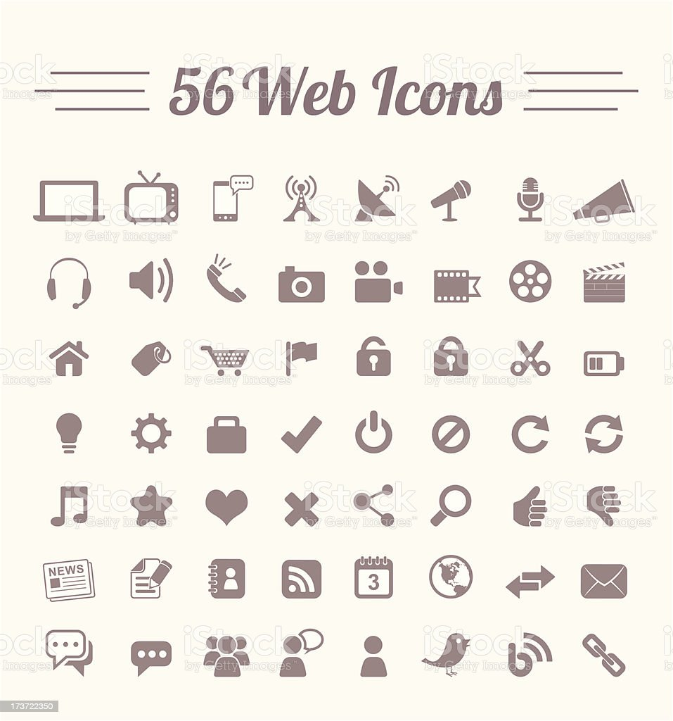 Web icons vector art illustration