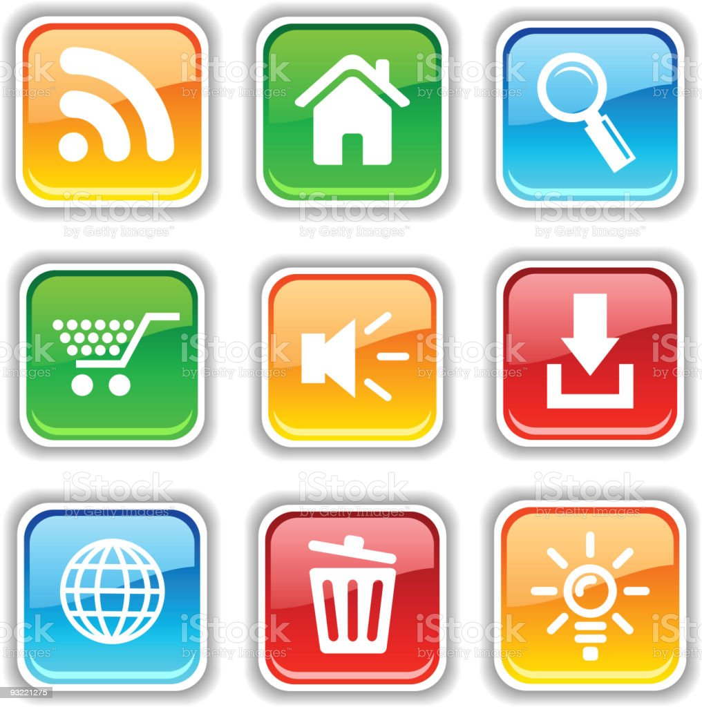 web icons. royalty-free stock vector art