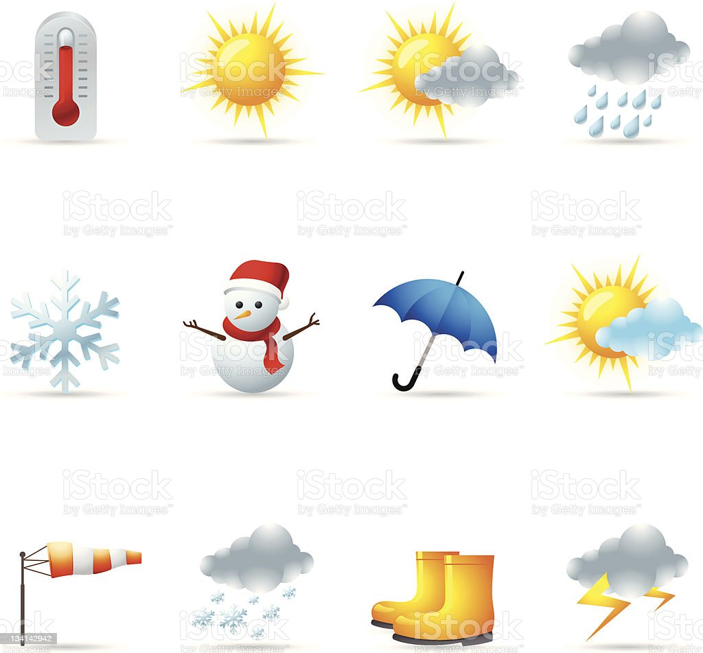Web Icons - Weather royalty-free stock vector art