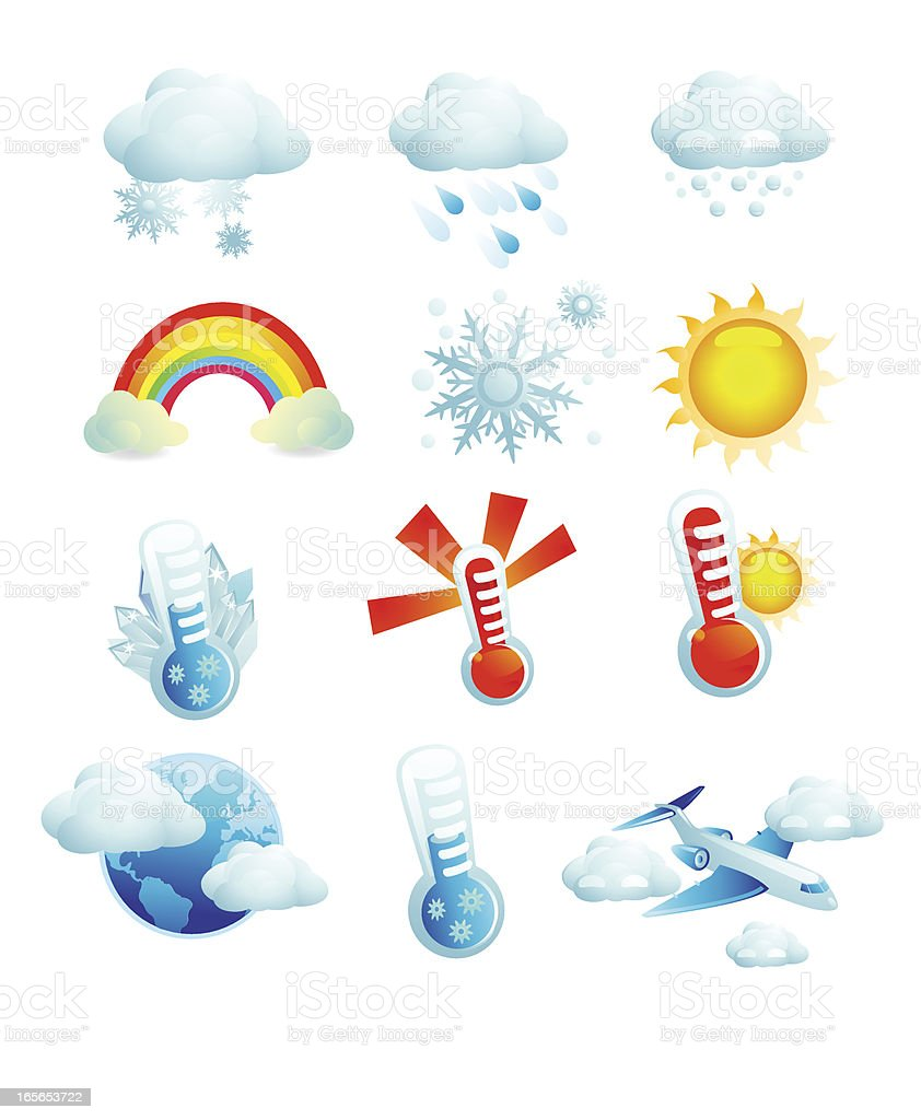 Web Icons Weather royalty-free stock vector art