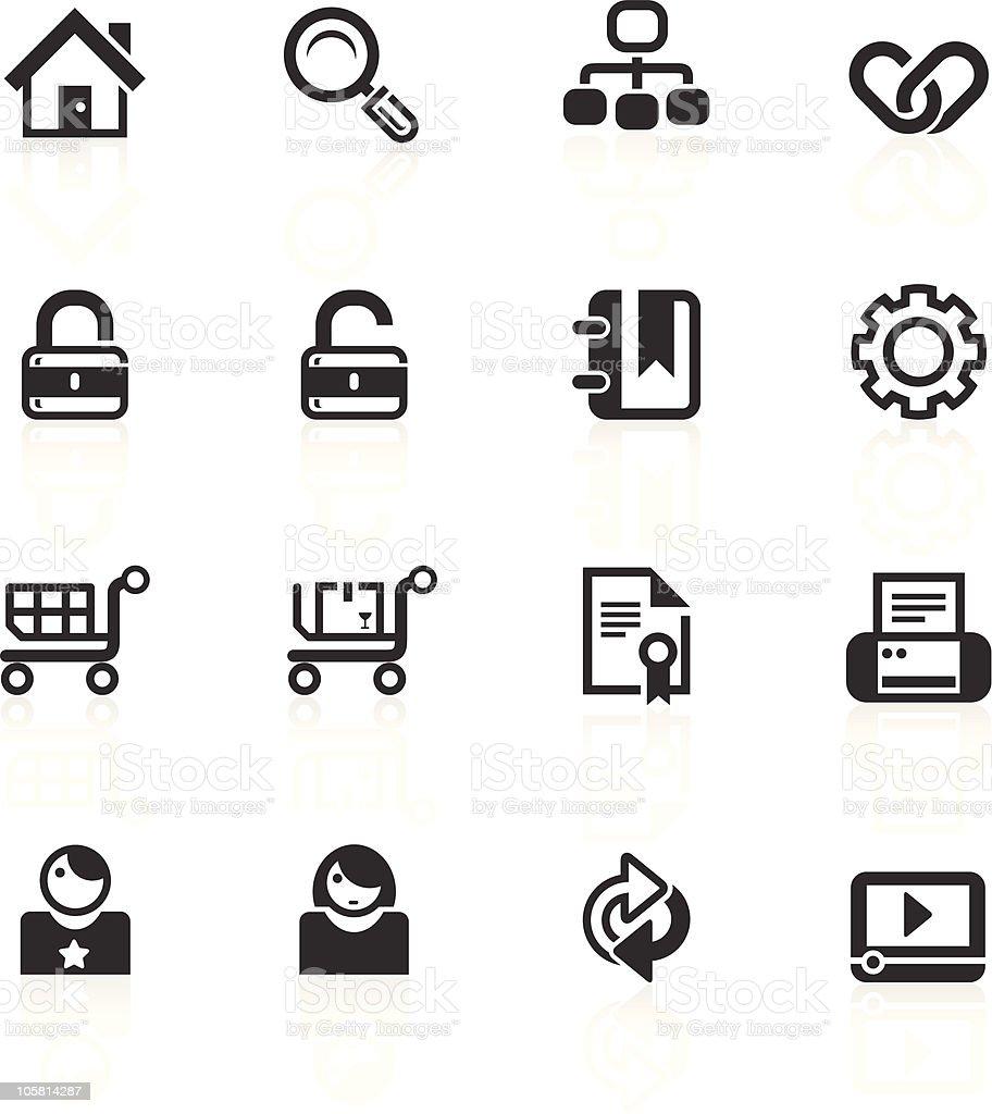 Web & Internet Icons 1- minimo series royalty-free stock vector art