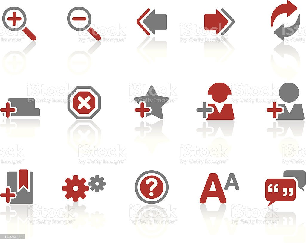Web & Internet Symbols 02 | Ruby royalty-free stock vector art