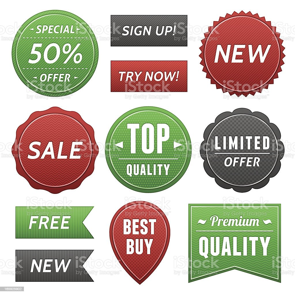 Web Labels royalty-free stock vector art