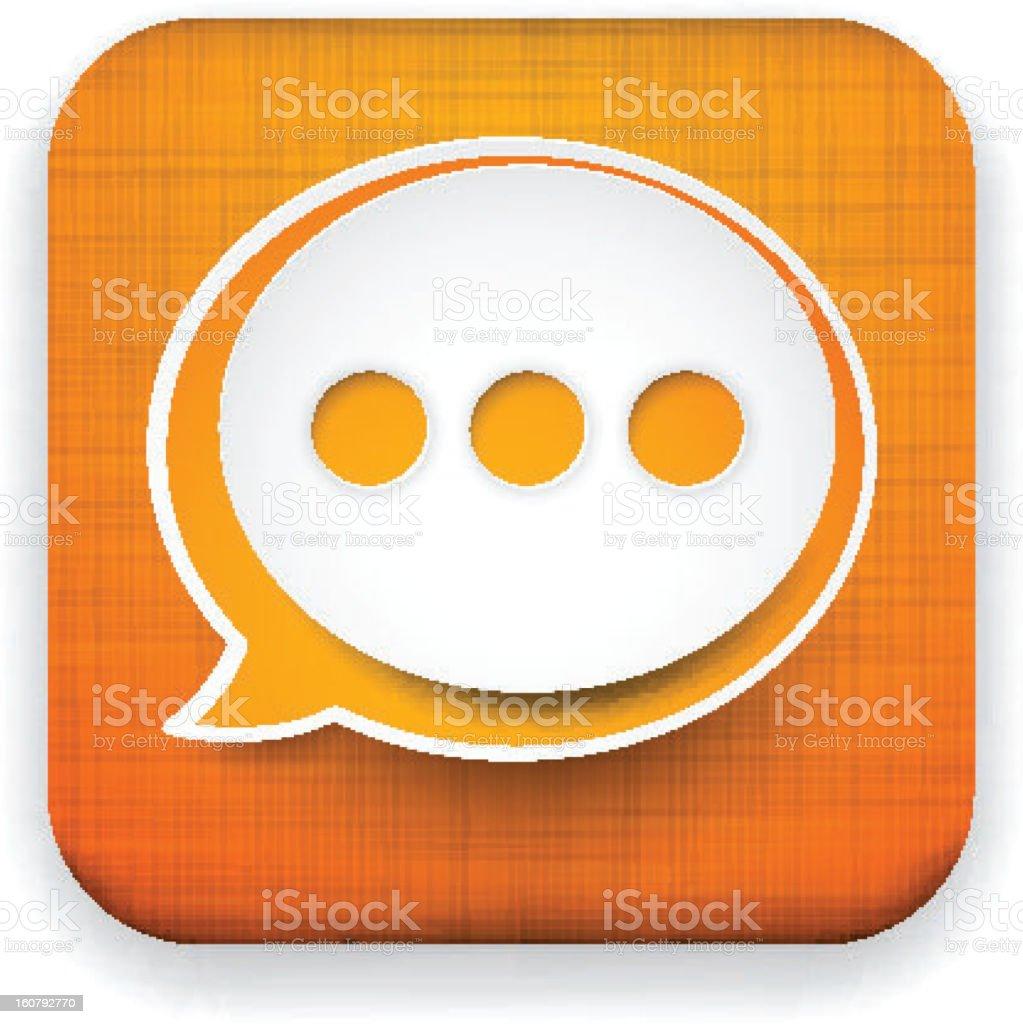 Web linen app speech bubble icon. royalty-free stock vector art