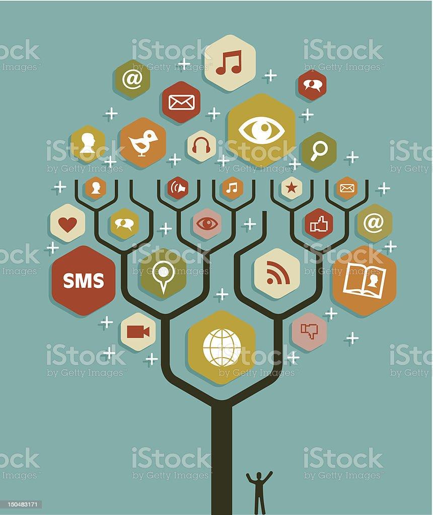 Web marketing business tree plan royalty-free stock vector art