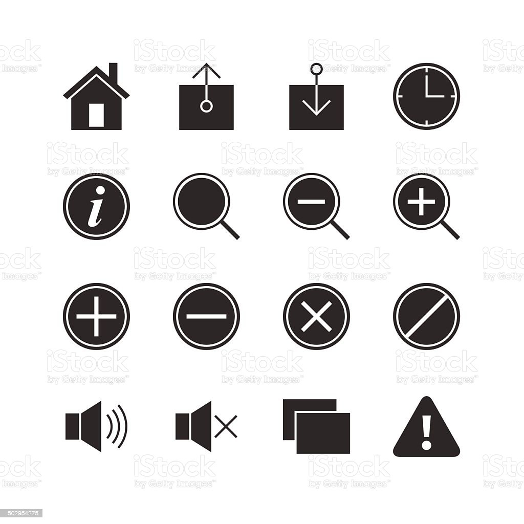 Web & Mobile Application Icons 1 vector art illustration