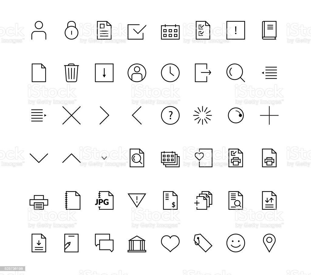 Web mobile friendly icon set vector art illustration