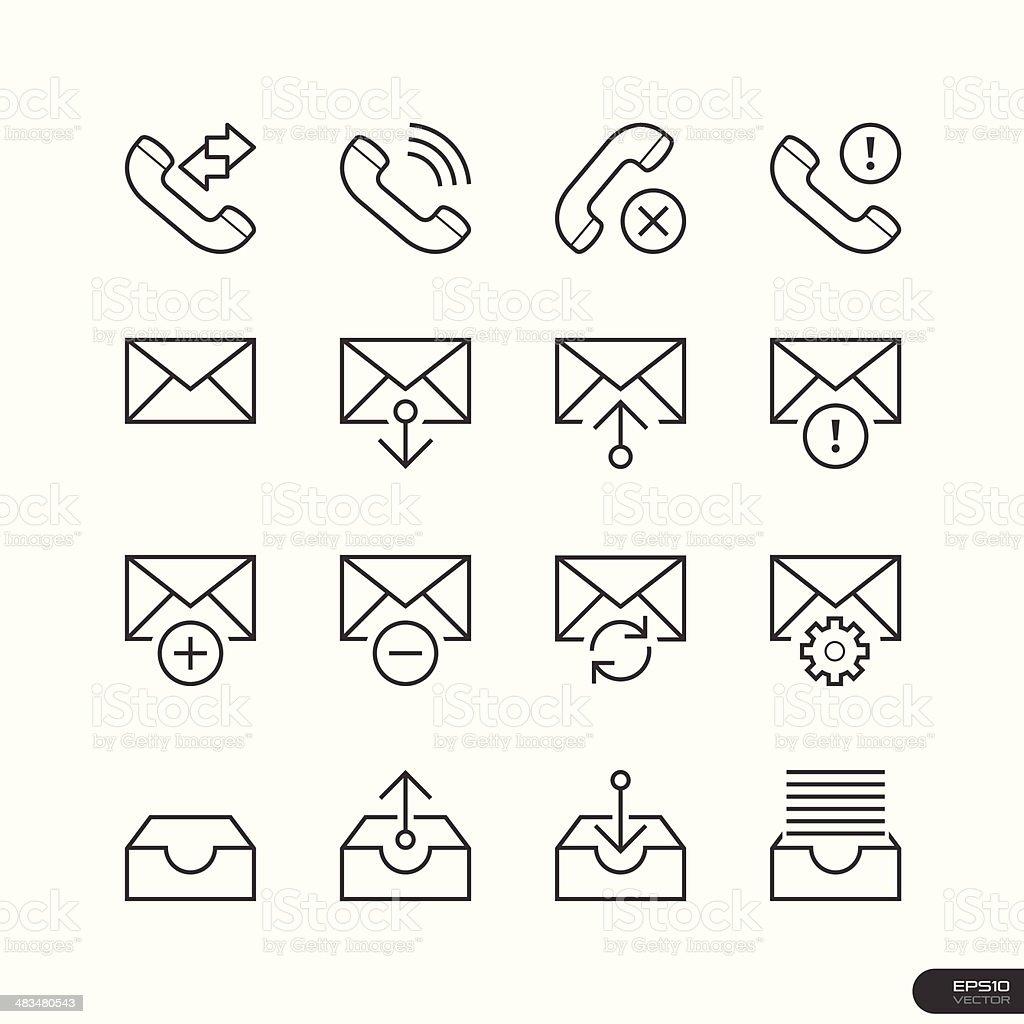 Web & Mobile interface Icons set vector art illustration