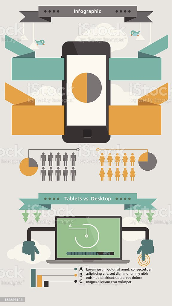 Web & Mobile phone Info graphic royalty-free stock vector art