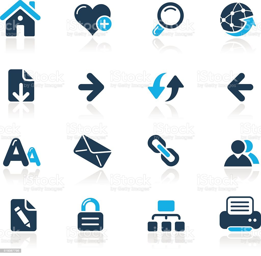 Web Navigation // Azure Series vector art illustration