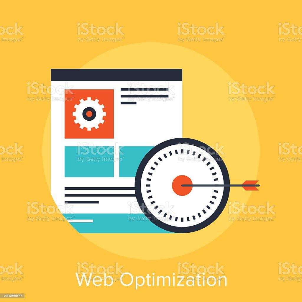 Web Optimization vector art illustration