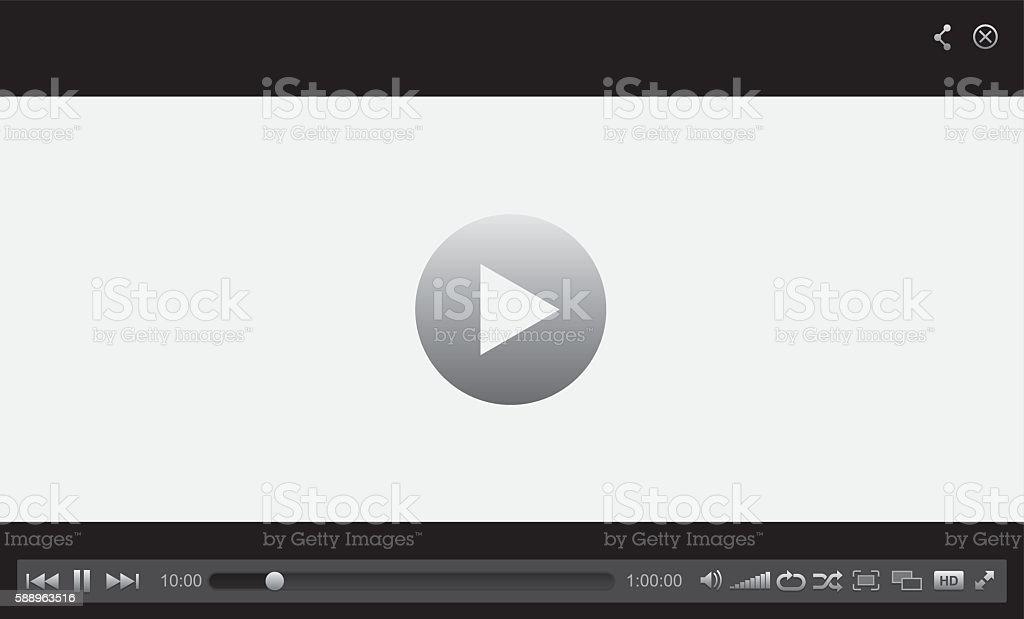 Web Player vector art illustration
