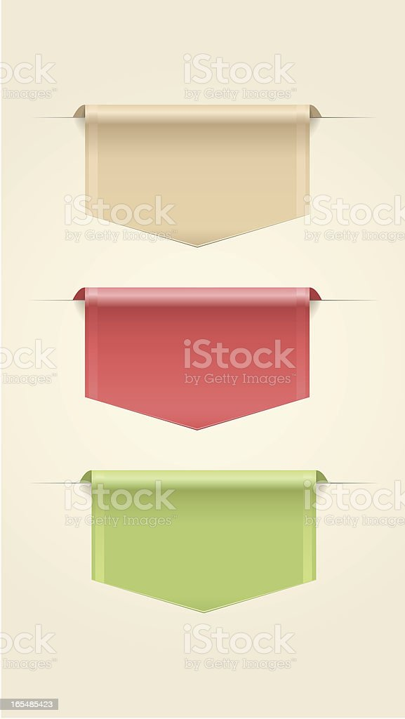 Web Ribbons royalty-free stock vector art