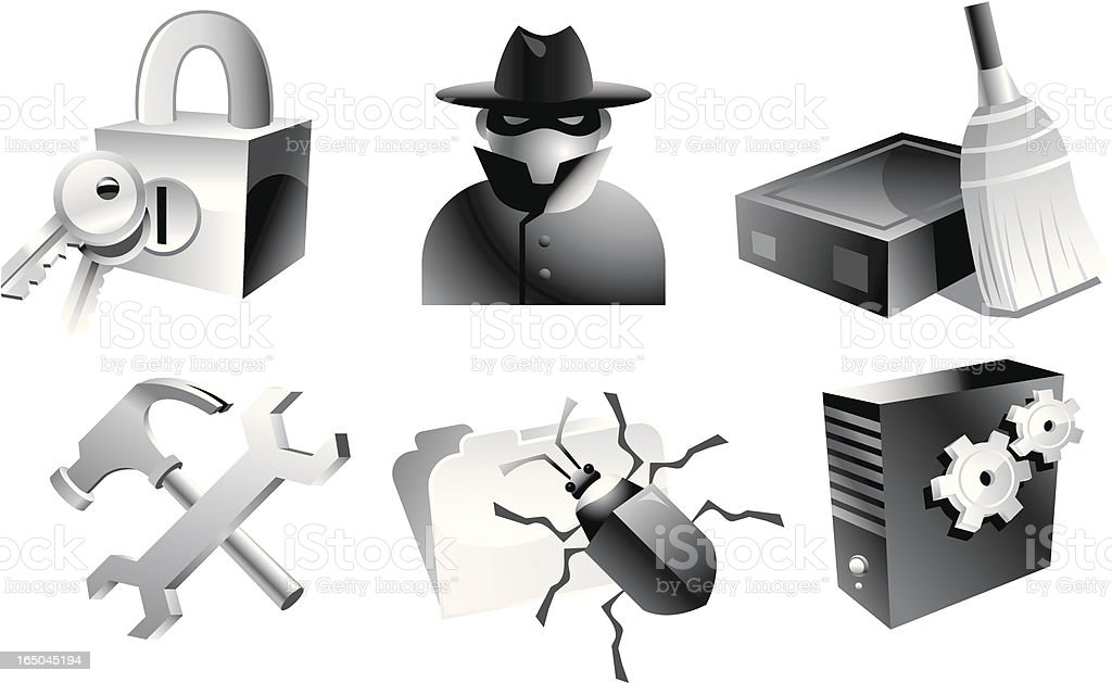 Web Security Icon Set 3 royalty-free stock vector art